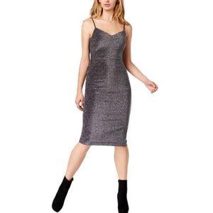 NWT 1. State Metallic Slip Cocktail Dress